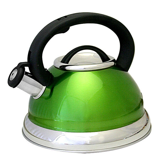Prime Pacific Green Stainless Steel 3-quart Whistling Tea Kettle