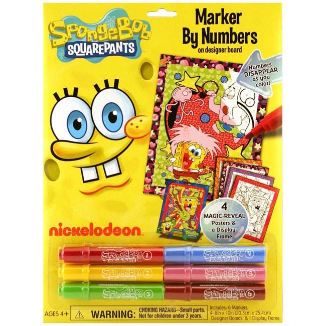 Up SpongeBob SquarePants Marker by Number Poster Set