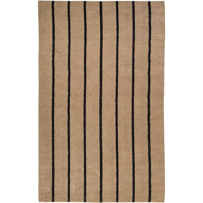 Country Living Hand-Woven Yoki Striped Natural Fiber Jute Rug (8' x 10'6)