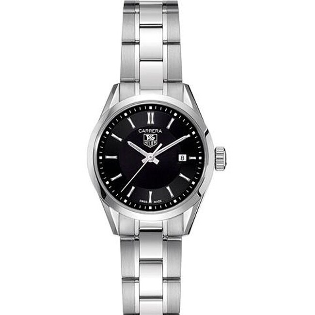 Tag Heuer Women's Carrera Stainless Steel Black Dial Watch