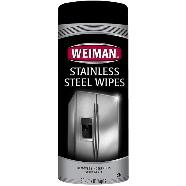 Weiman 30-ct Canister Stainless Steel Wipes (Pack of 2)