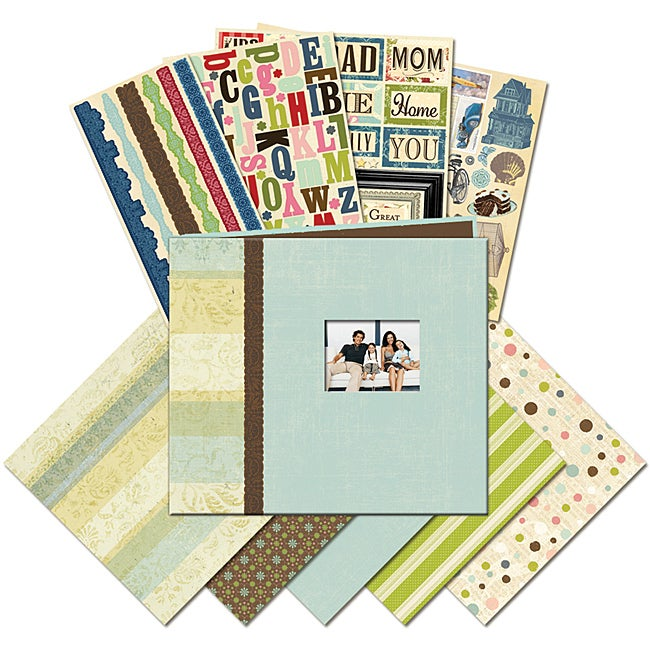 K & Company Family 8.5x8.5-inch Mega Scrapbook Kit