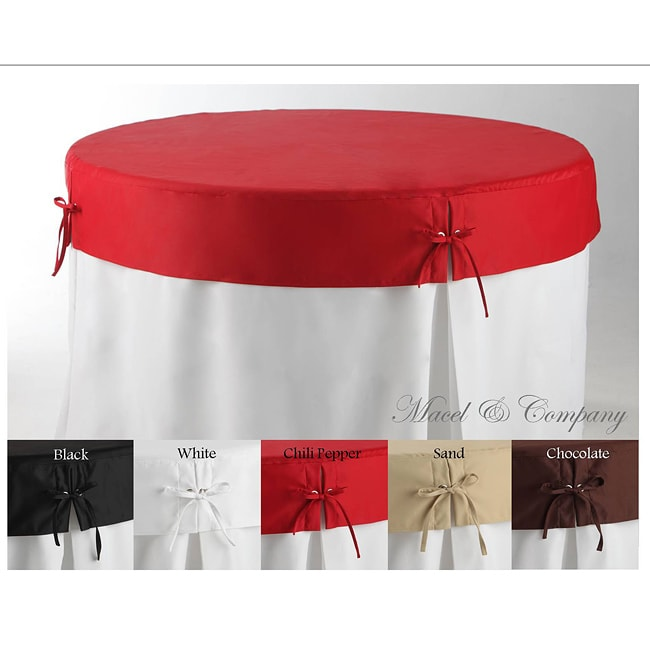 Betty Topper 60 Inch Round Fitted Tablecloth 13768385