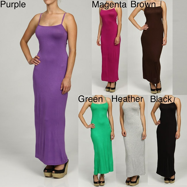 Overstock.com 24/7 Comfort Apparel Women's Camisole Maxi Dress at Sears.com