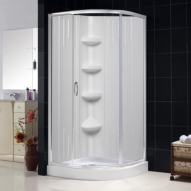 DreamLine Sparkle Clear Glass Enclosure 36x36-inch Base and Backwall Kit