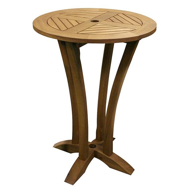 Eucalyptus 30-inch Round Bar Table