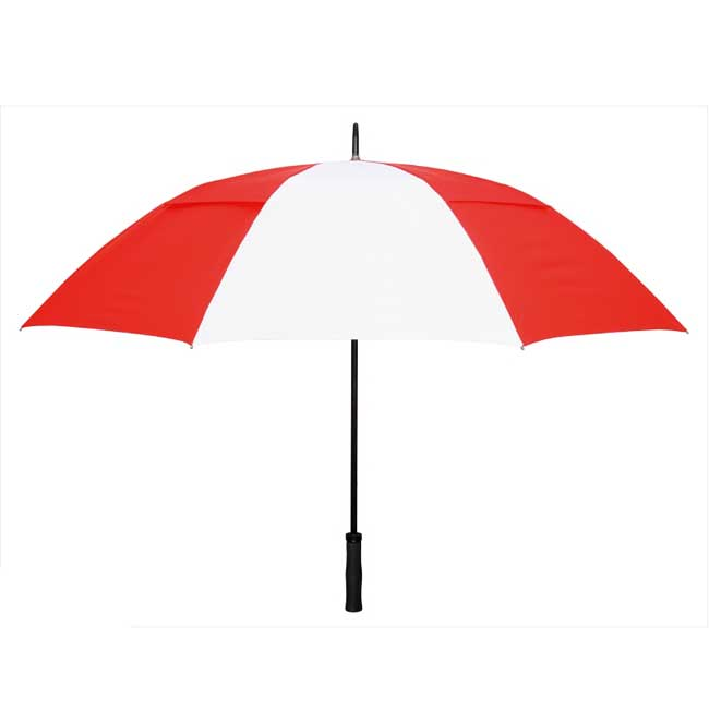 Rainkist Umbrellas 60-inch Red/White Nylon Umbrella
