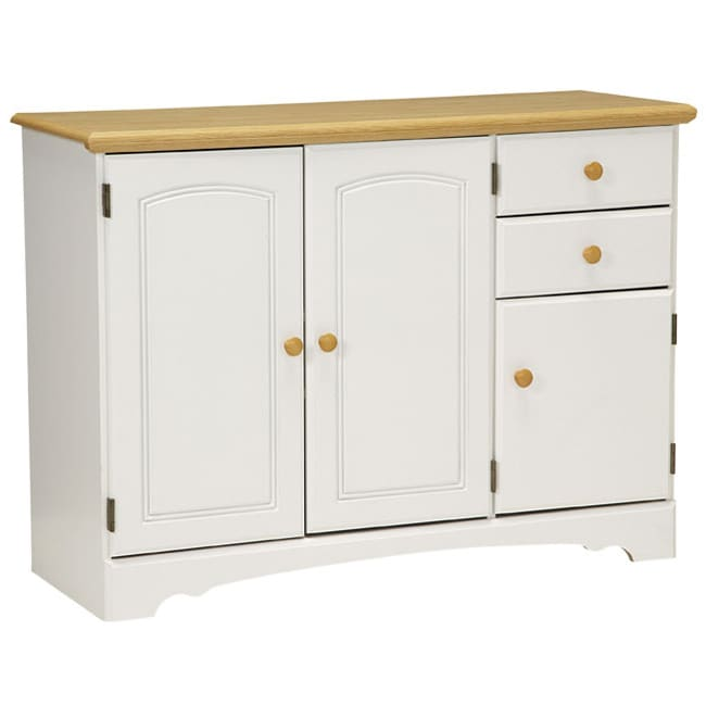 New Visions by Lane Kitchen Essentials White/Maple Buffet