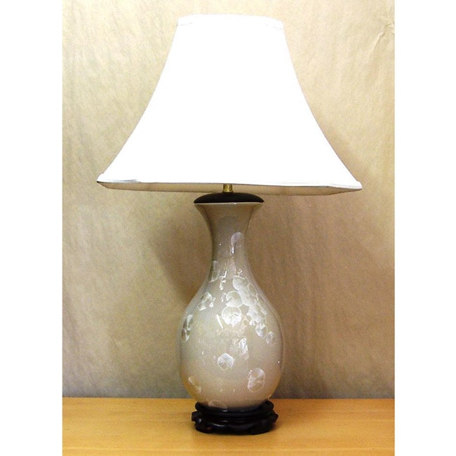 Ivory Ginko Porcelain Table Lamp
