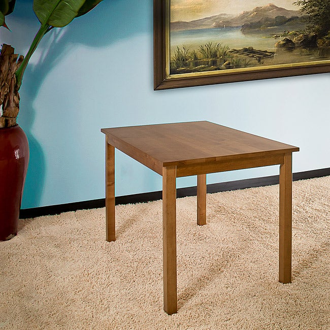 Birch Wood Rectangular Dining Table