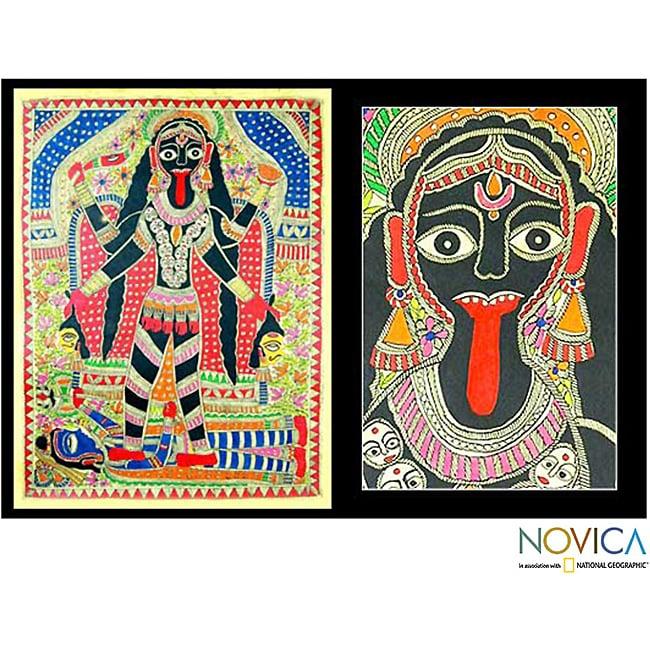 Kumar Jha 'Angry Goddess Kali' Madhubani Painting (India)