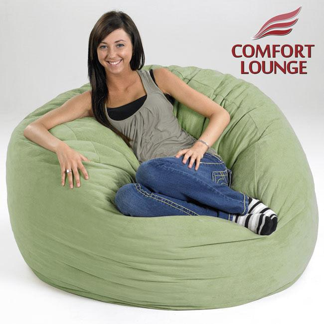 Comfort Lounge Seafoam Green Medium-size Memory Foam Lounge Bag