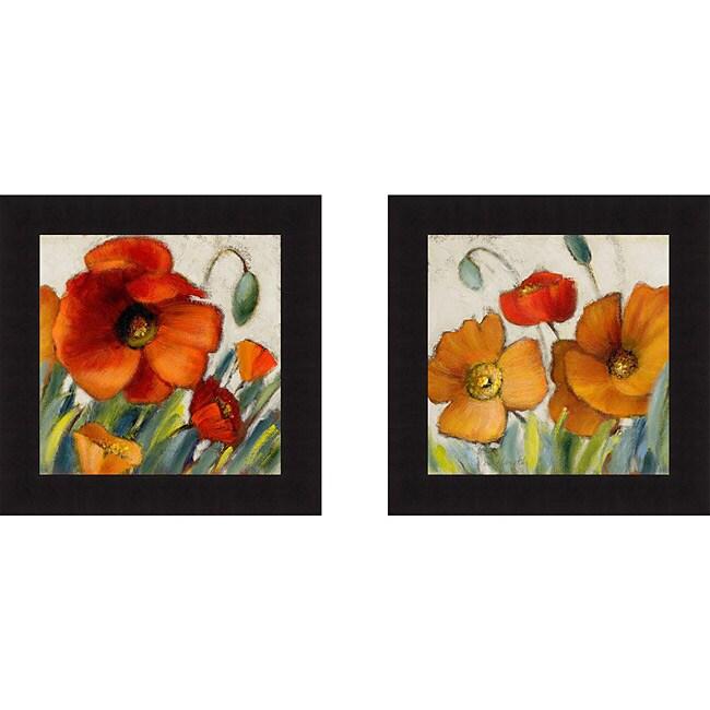 Lanie Loreth 'Poppy Splendor SquareII and III' Framed Print Art