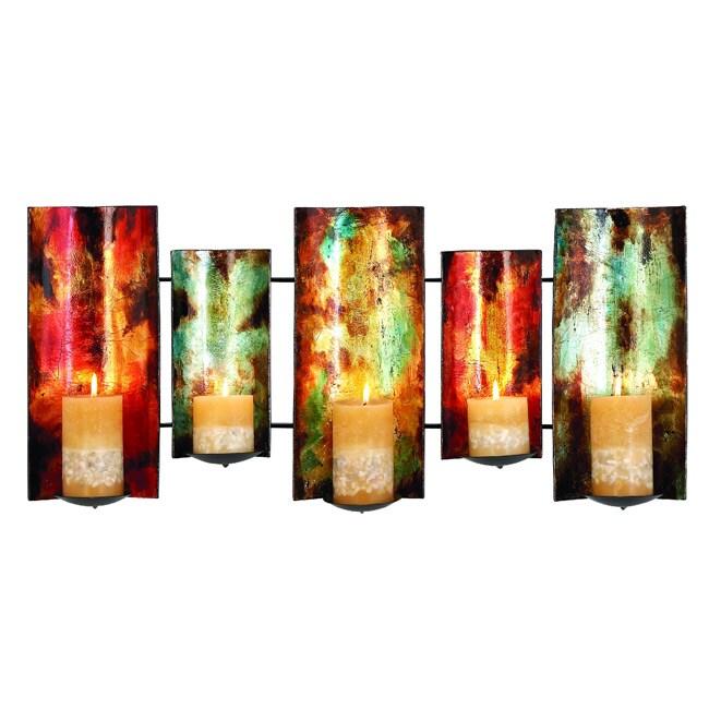 Artisian Pillar Candle Wall Sconce Decor