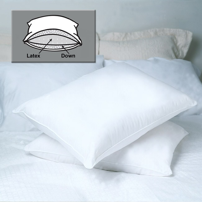 Famous Maker Luxury Down Wrap Latex Foam Pillow