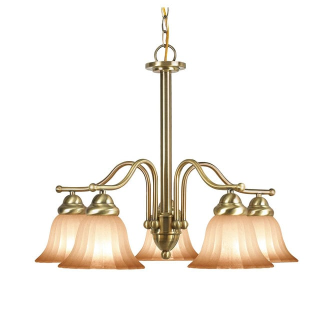 Woodbridge Lighting Morgan Park 5-light Classic Brass Chandelier