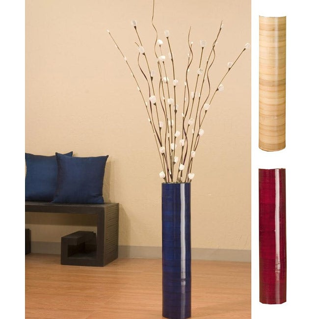 Mini Roses with 25-inch Bamboo Floor Vase