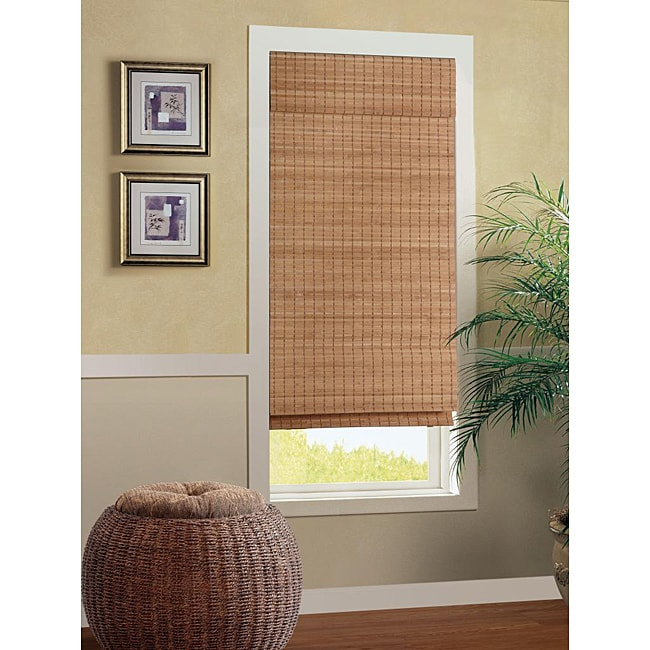 Nantucket Cordless Bamboo Roman Shade (39 in. x 72 in.)