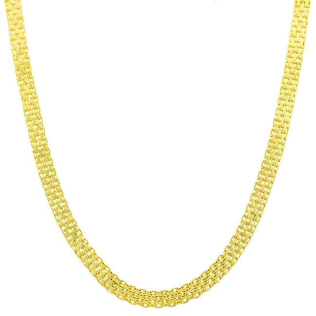 Fremada 14k Yellow Gold 20-inch Bismark Chain