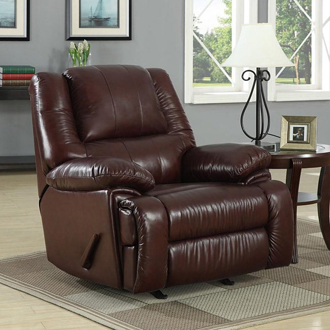 New Creations Camden Chestnut Color Contemporary Recliner