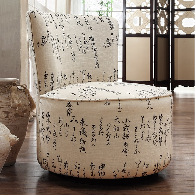 Moda Round Swivel Linen Chair