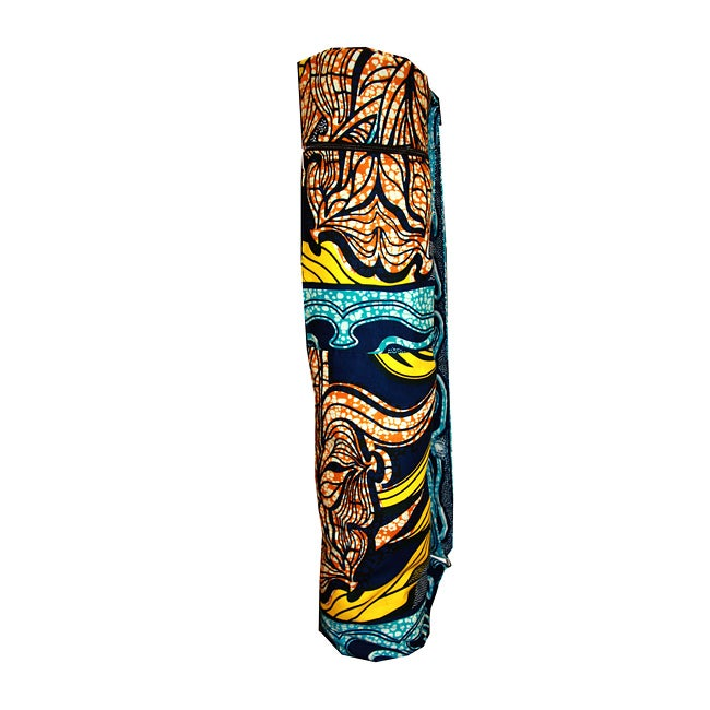 Cotton Wax-printed Tulip Yoga Bag (Rwanda)