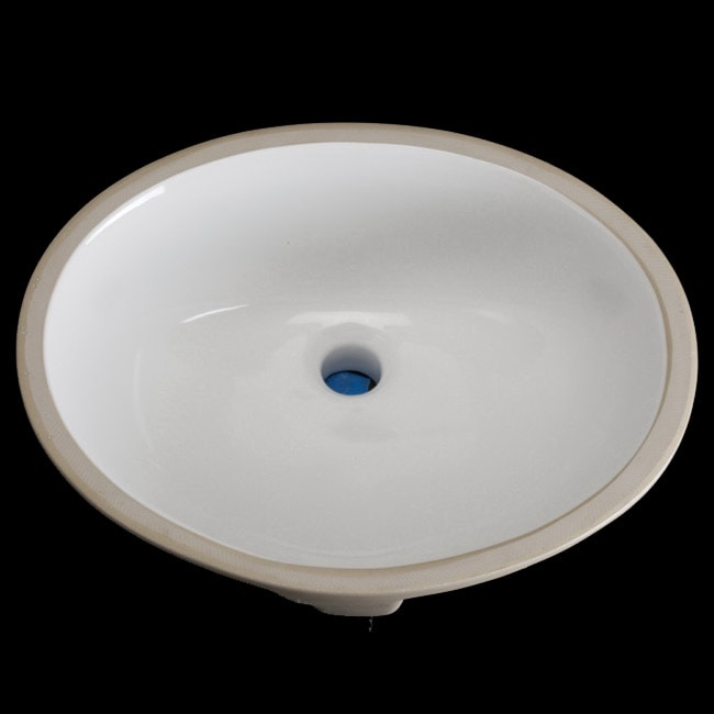 Undermount Oval 16 5 Inch White Vitreous China Bathroom Sink 13843841 Shopping
