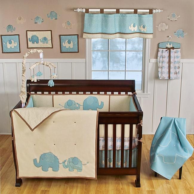 Sumersault Spotted Ellie 8-piece Crib Bedding Set