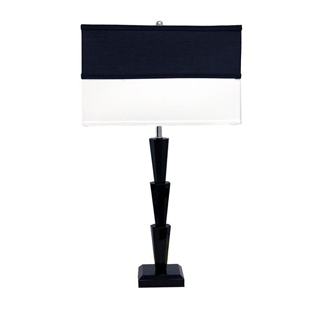 Two Tone 26-inch High Table Lamp
