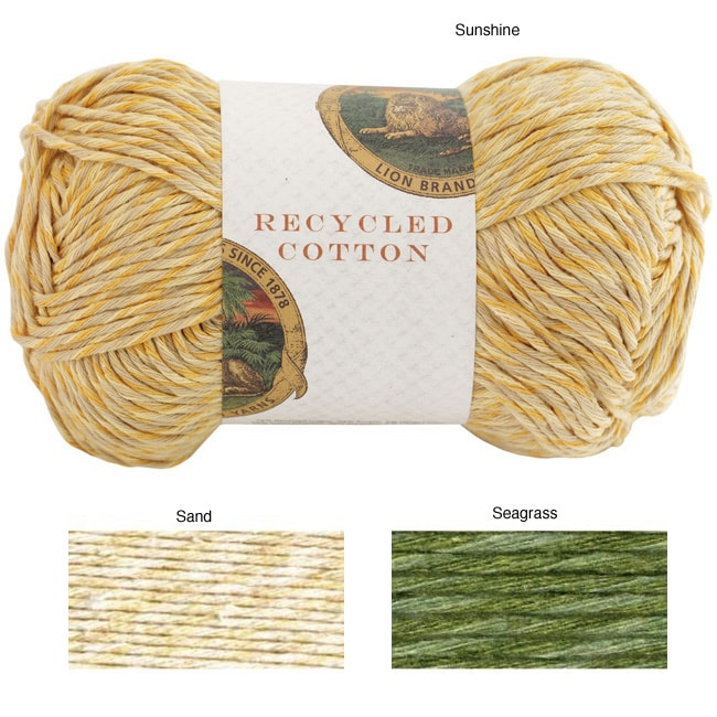 Lion Brand Recycled Cotton Yarn 13852709 Overstock Com