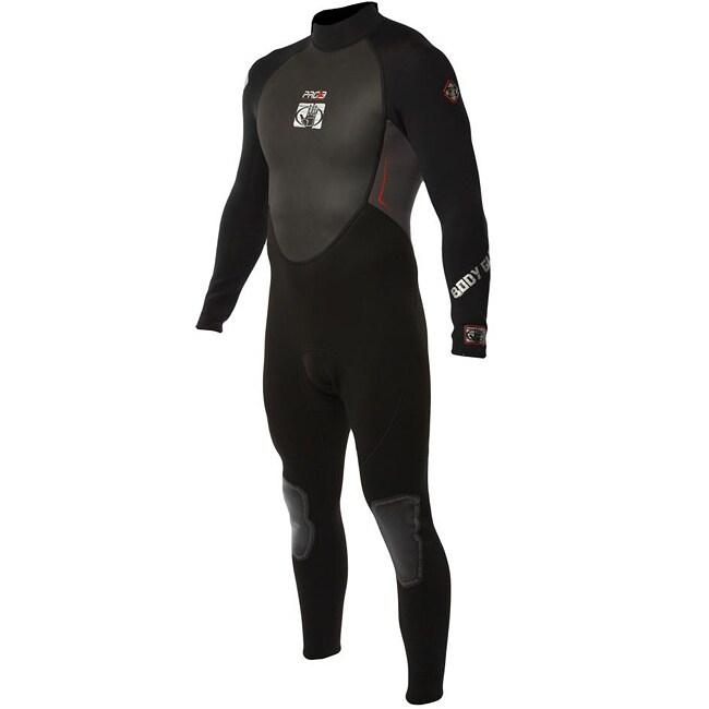 Body Glove Men's Pro 3 Black/ Charcoal Full Wetsuit