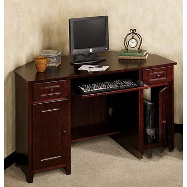Mahogany Corner Computer Desk - Overstock Shopping - Great ...