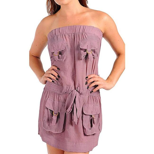Stanzino Women's Plus Size Plum Pocket Dress