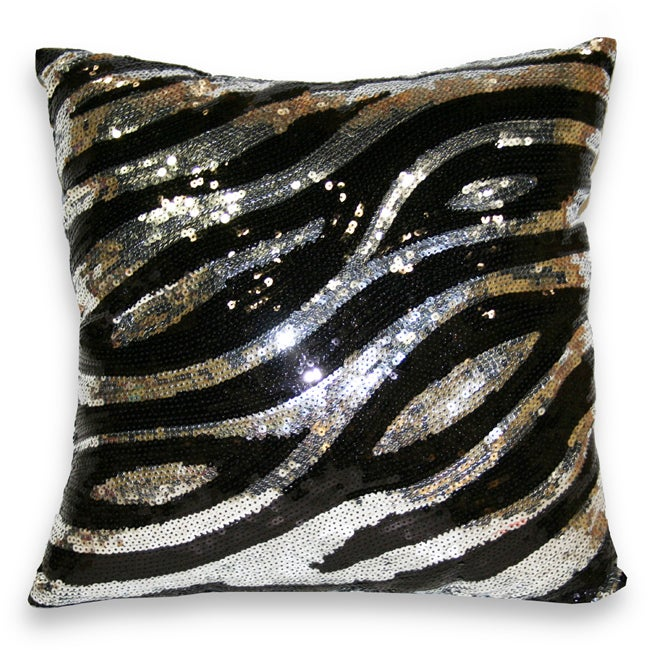 Sequin Zebra Decorative Pillow - 13853660 - Overstock.com Shopping - Great Deals on Thro Throw ...