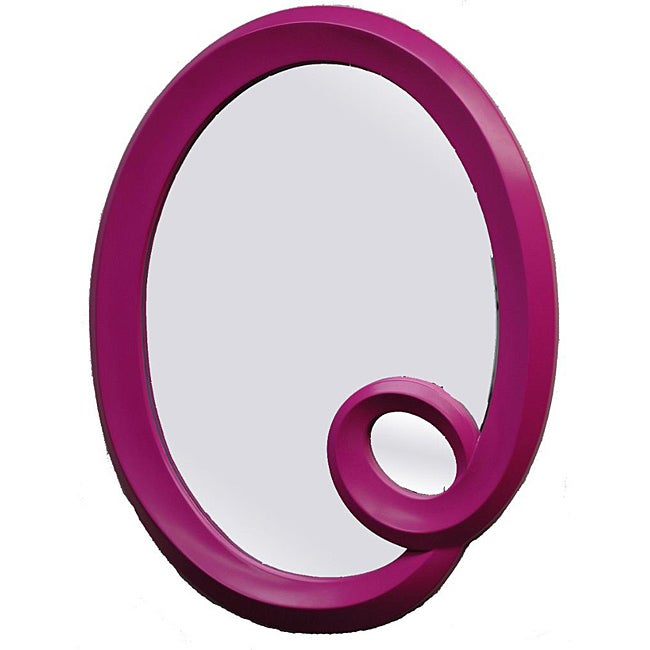 Pink Oval Framed Mirror