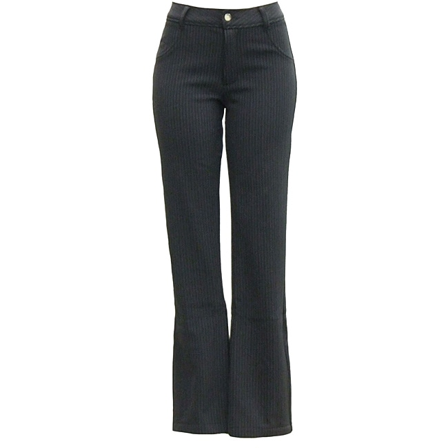 AFRC Women's Long Stripe Jean Black/ Silver Ski Pants