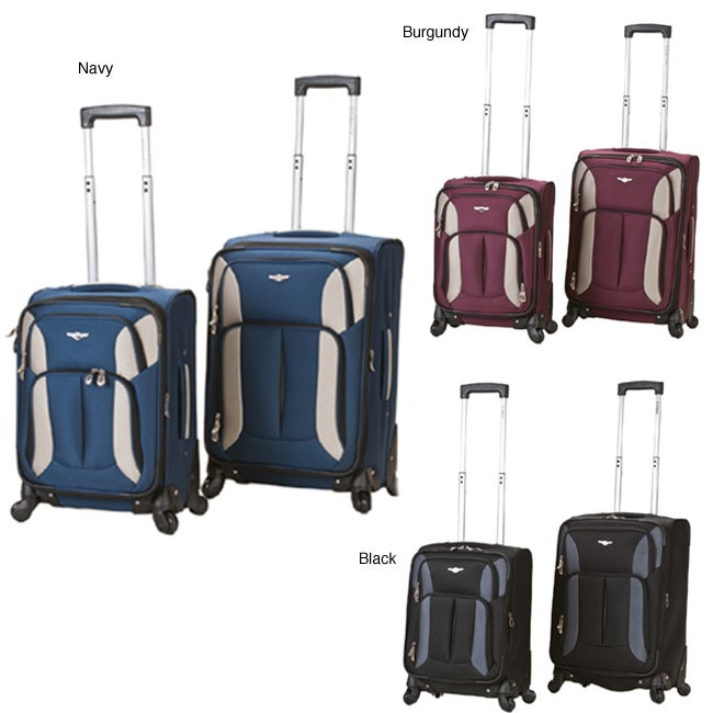 Rockland 2-piece Carry-on Spinner Upright Luggage Set