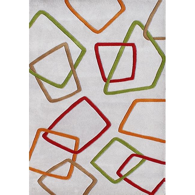 Alliyah Handmade New Zeeland Blend Grey Wool Rug (8' x 10')