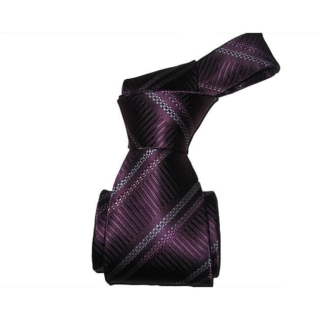 BOT Men's Purple Striped Tie
