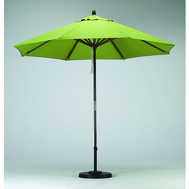 Overstock.com Premium 9-foot Lime Green Patio Umbrella with Base at Sears.com