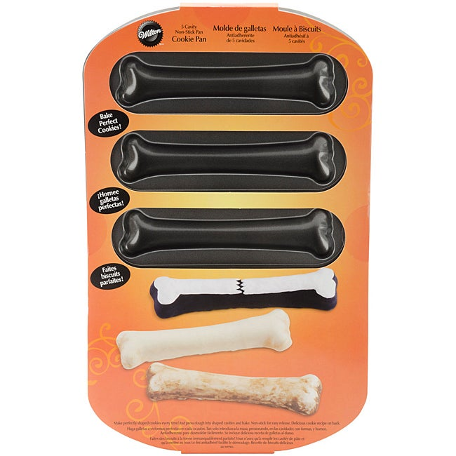 Wilton 5-cavity Non-stick Halloween Bone Mold/ Baking Pan