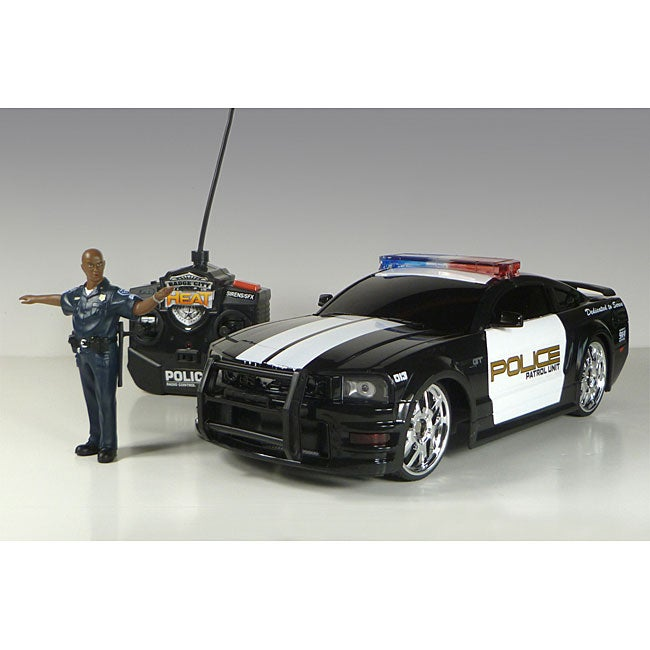 Jada Toys Ford Mustang Police Car with Police Figure Remote Control Car