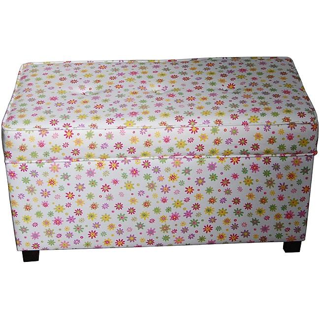Mod Daisy Tufting Storage Bench