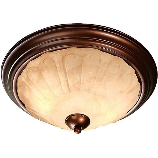 Woodbridge Lighting Brunswick 2-light Oil Rubbed Bronze Flush Mount