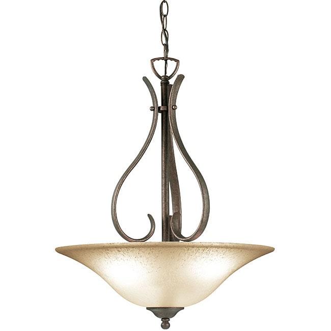 Woodbridge Lighting Beaconsfield 3-light Marbled Bronze Pendant Light