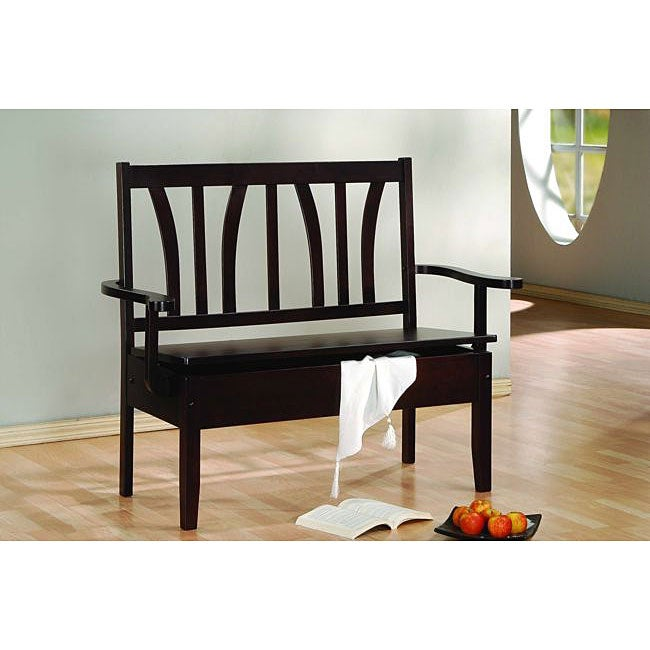 Cappuccino 50-inch Storage Bench