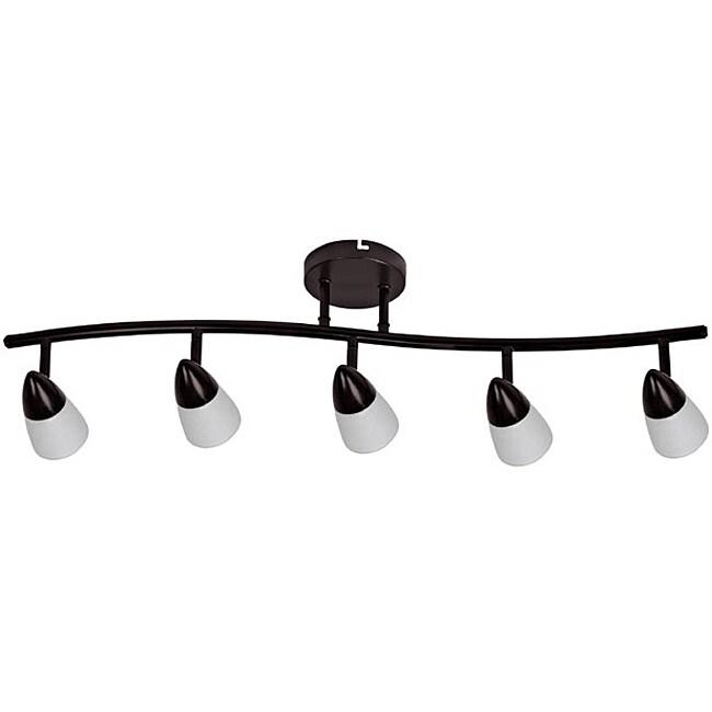 Transitional 5-light Dark Rubbed Bronze Rail