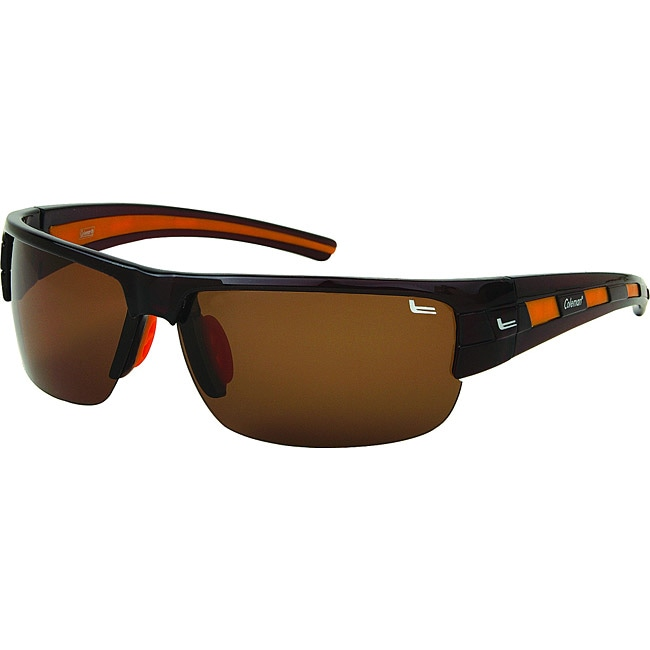 Coleman Men's CC1 Brown/ Orange Polarized Sunglasses