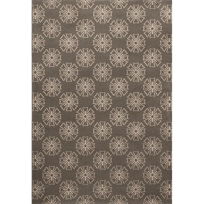 Miramar Grey on Grey Area Rug (7'10 x 10')