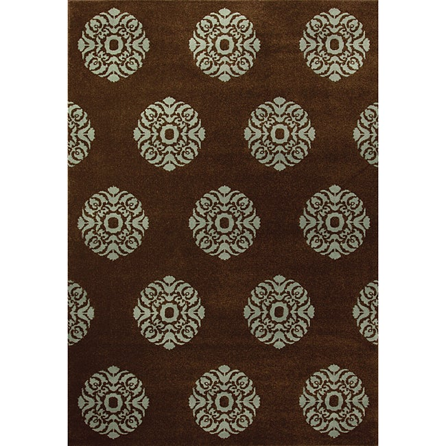 Miramar Brown and Blue Area Rug (310 x 55)